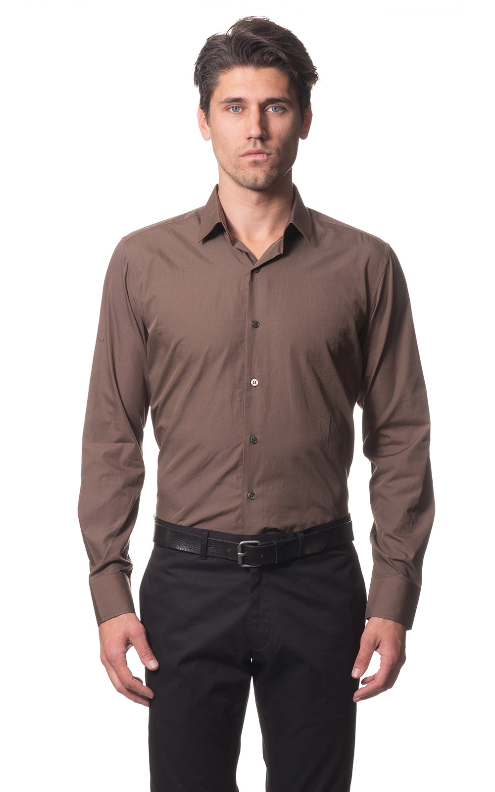 Sam classic everyday cotton shirt - Brown