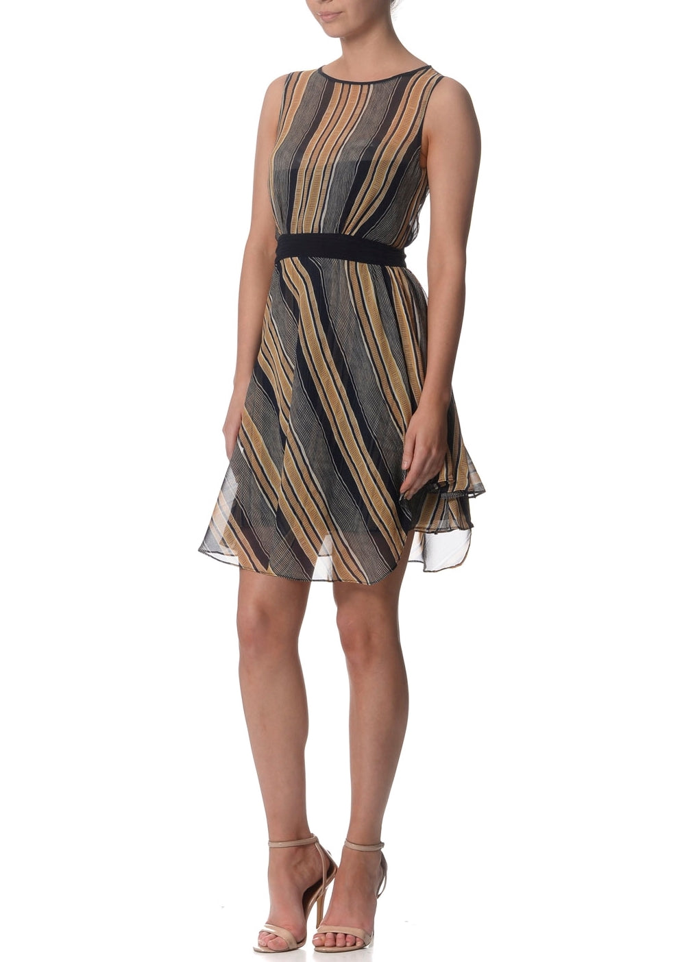 Lori Stripe Corset Silk Dress