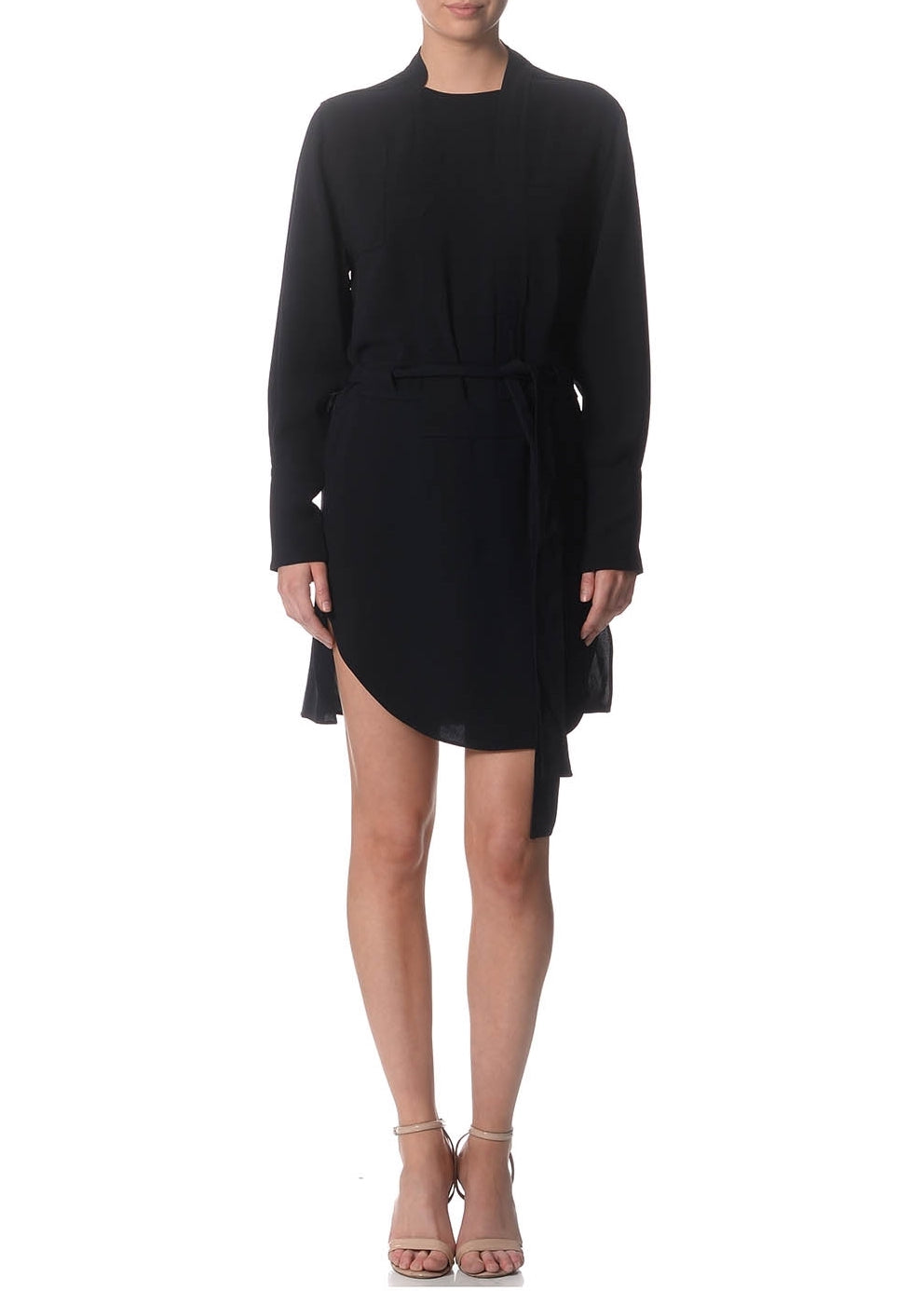 Janet Dark Navy Trench Dress