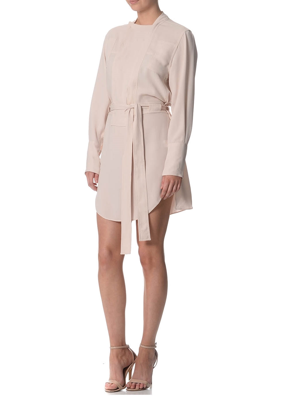 Janet Nude Pink Trench Dress