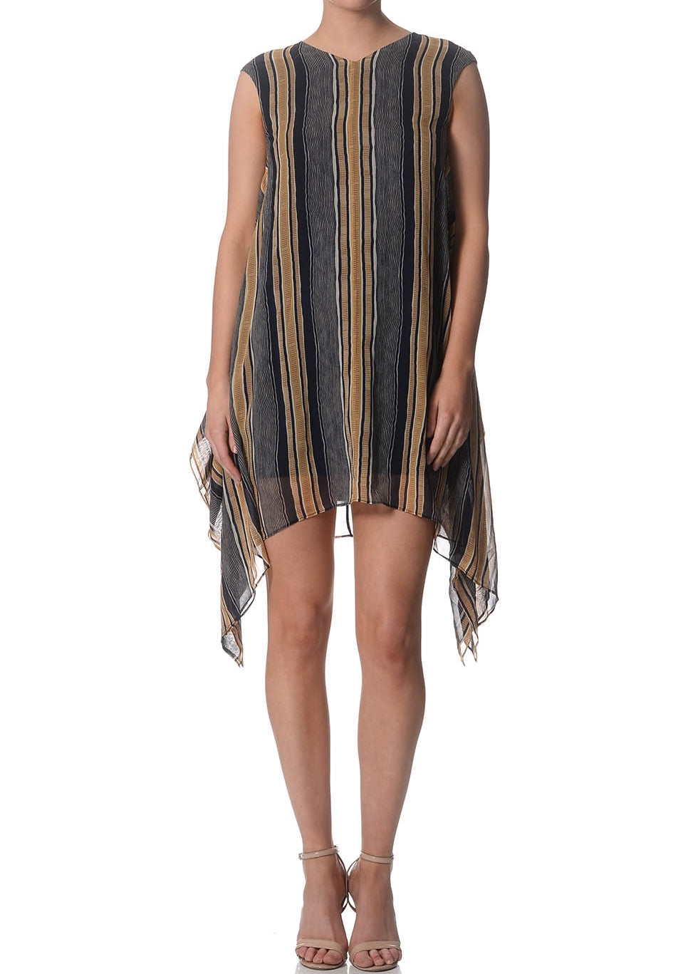 Lori Stripe Silk Tent Dress