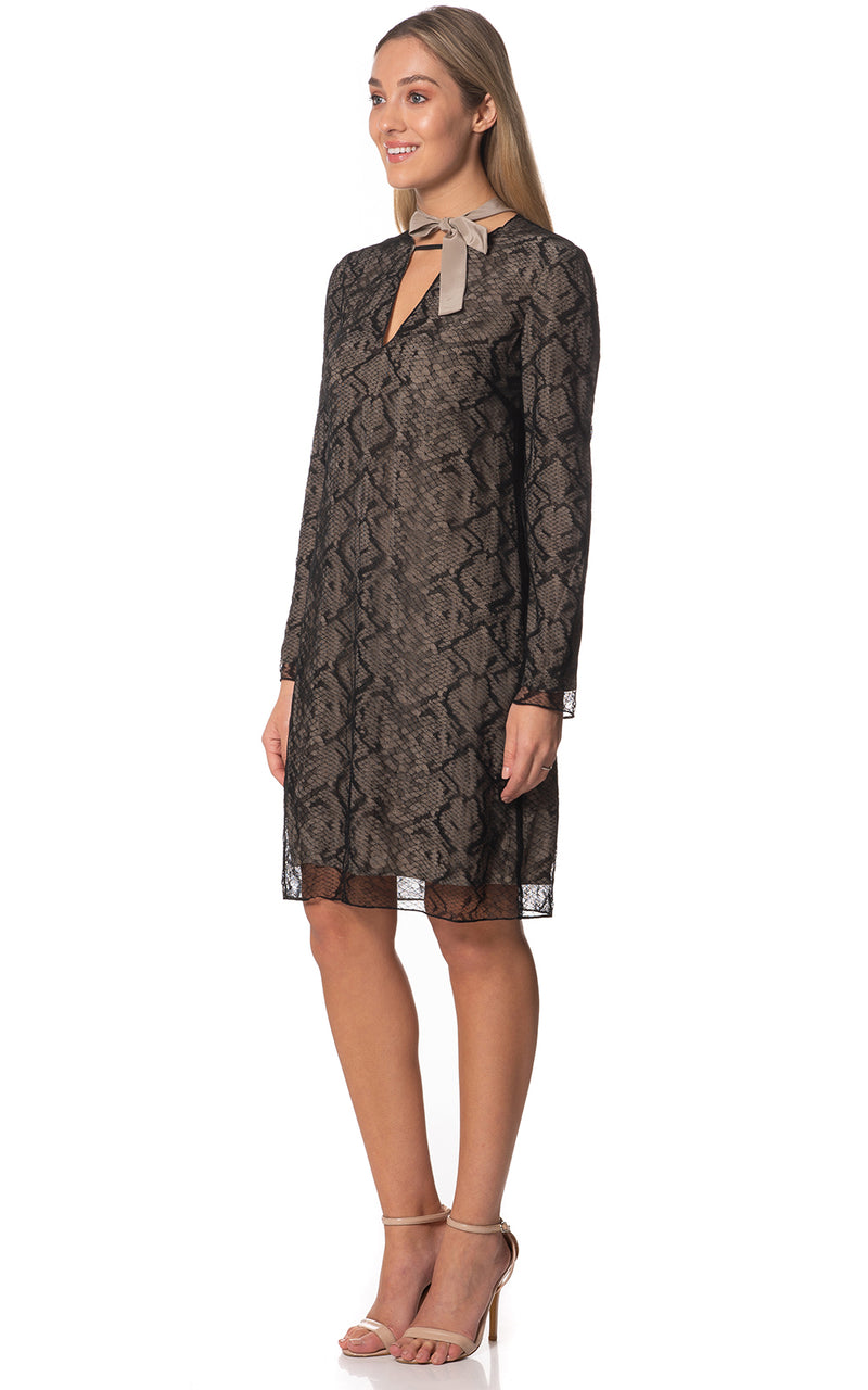 Long Sleeve Lace Tunic Dress