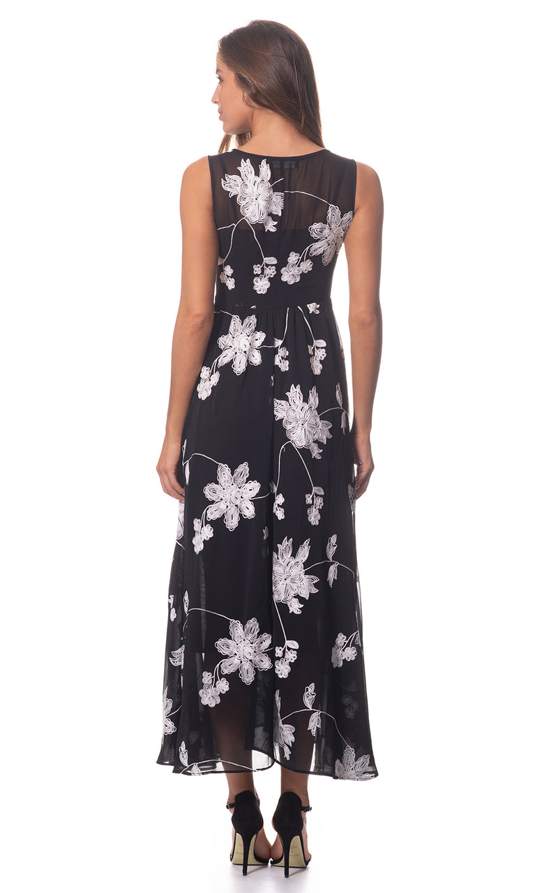Jessie Embroidery Maxi Dress