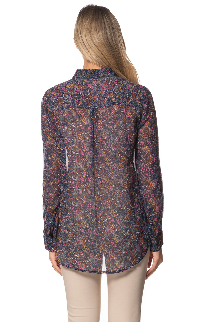 Gloria SS Printed Silk Blouse
