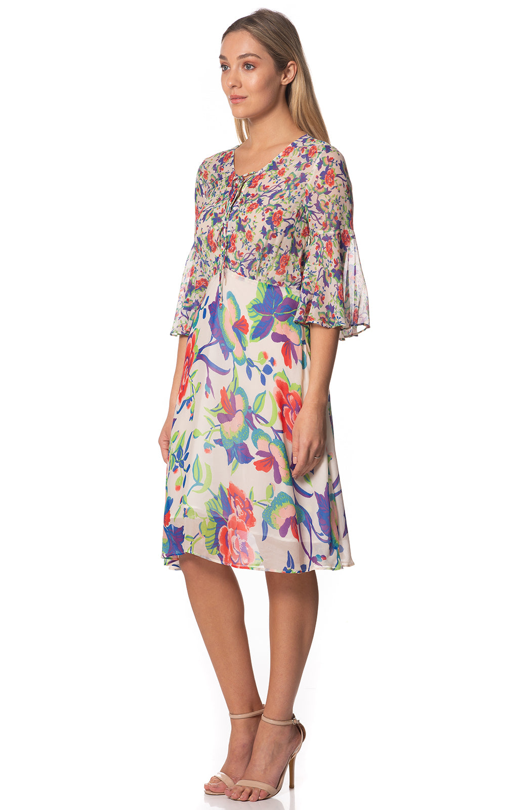 Rosie Midi Printed Dress