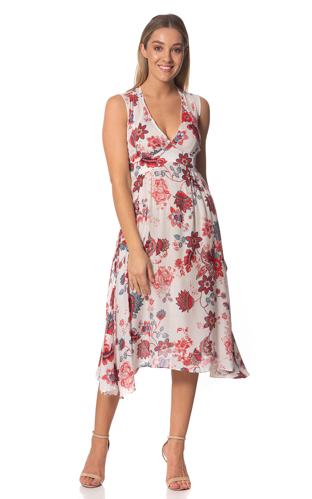 Sheryl V-neck Printed Dress