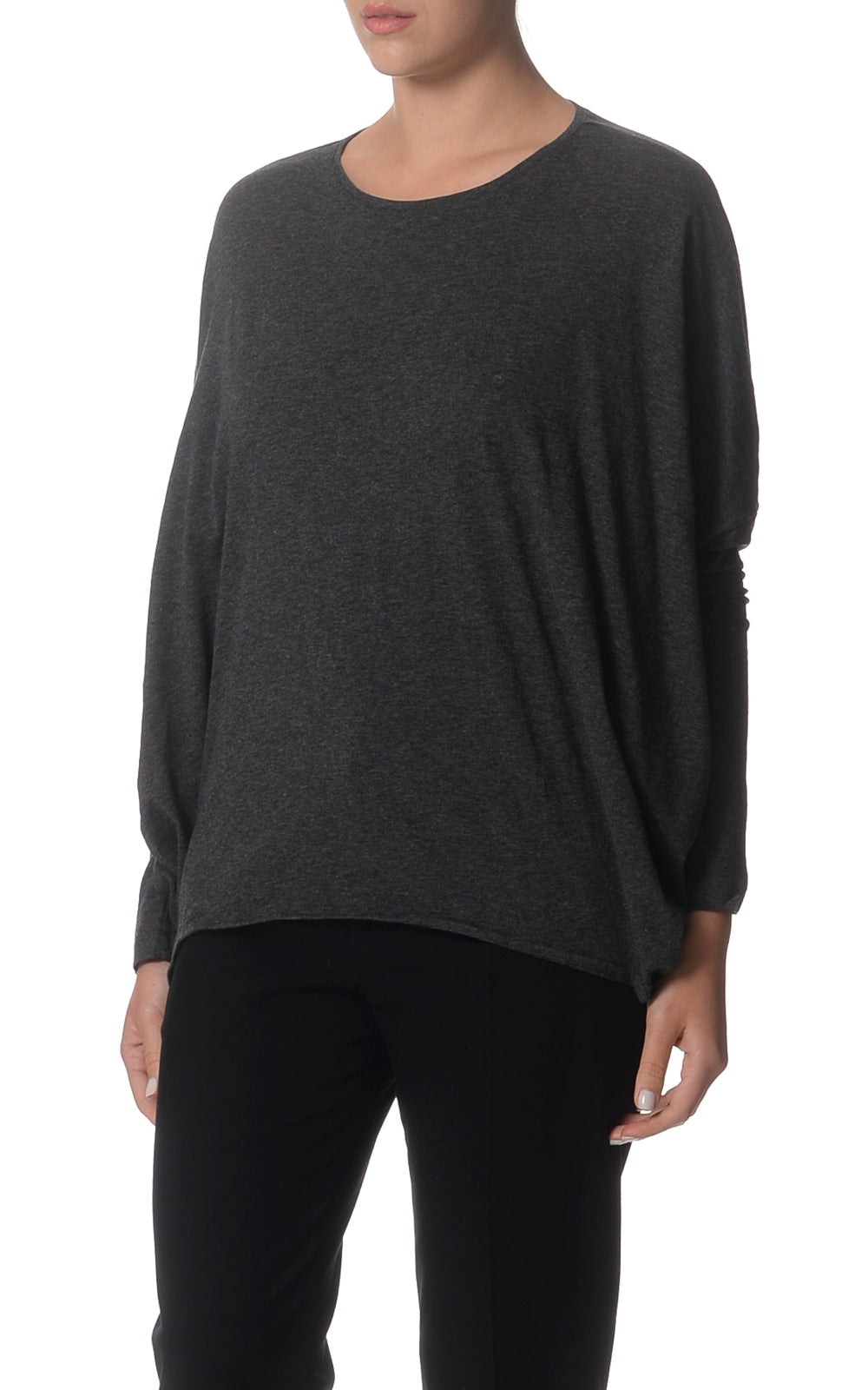 Leona Weekend Relaxed Wool Blend Top