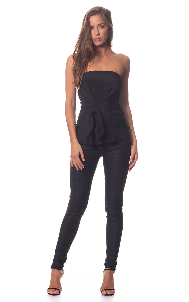 Betty Bow Silk Corset Top