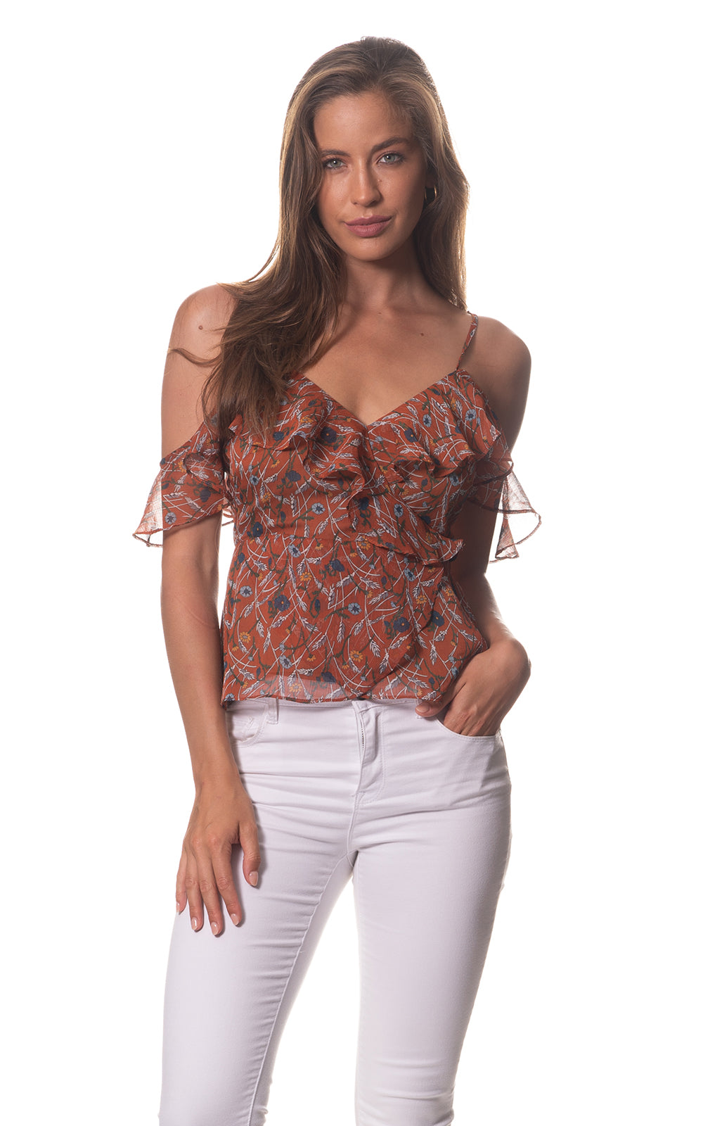 Ava Summer Frill Top