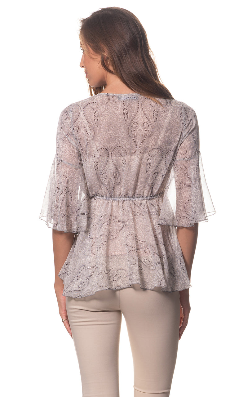Grace Paisley Silk Blouse