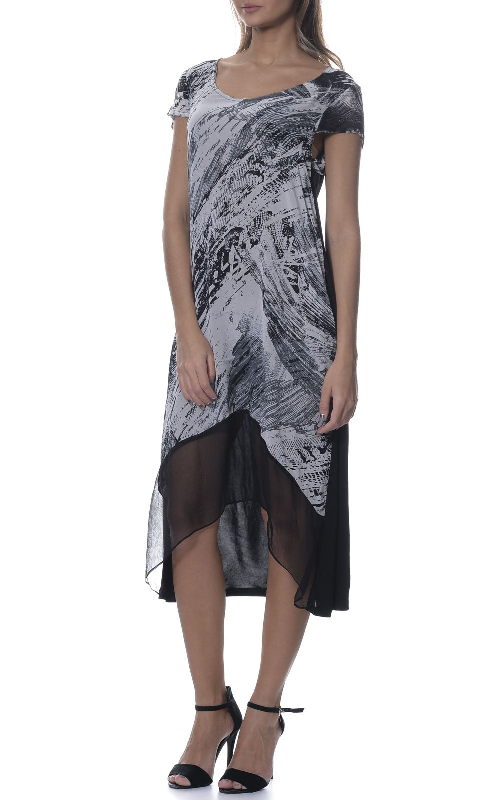 Silk Modal Contrast Dress