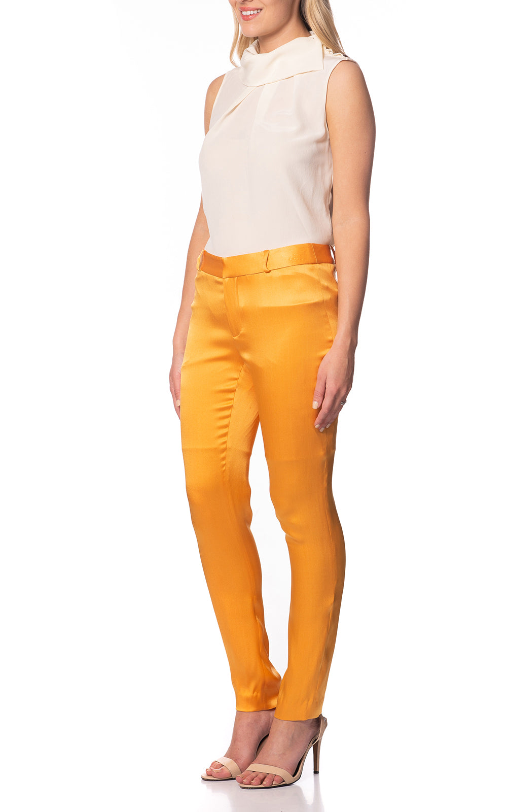 Camila Silk Pants Aspen Gold