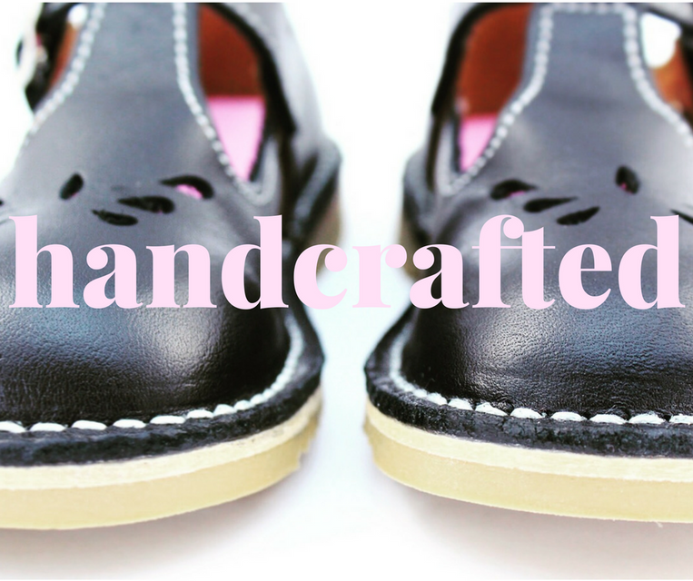 handcrafted black leather school shoes