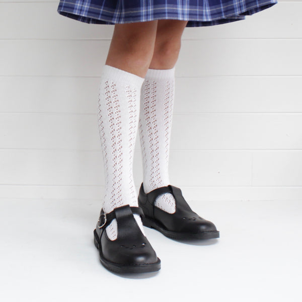 White Cotton Pelerine Knee High Socks - 5 pair bundle