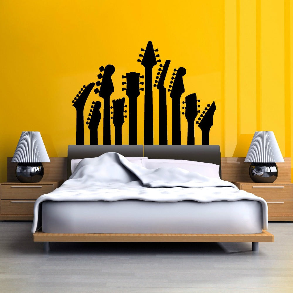 Decorate Your Room With Guitar Necks Wall Sticker Ronoson