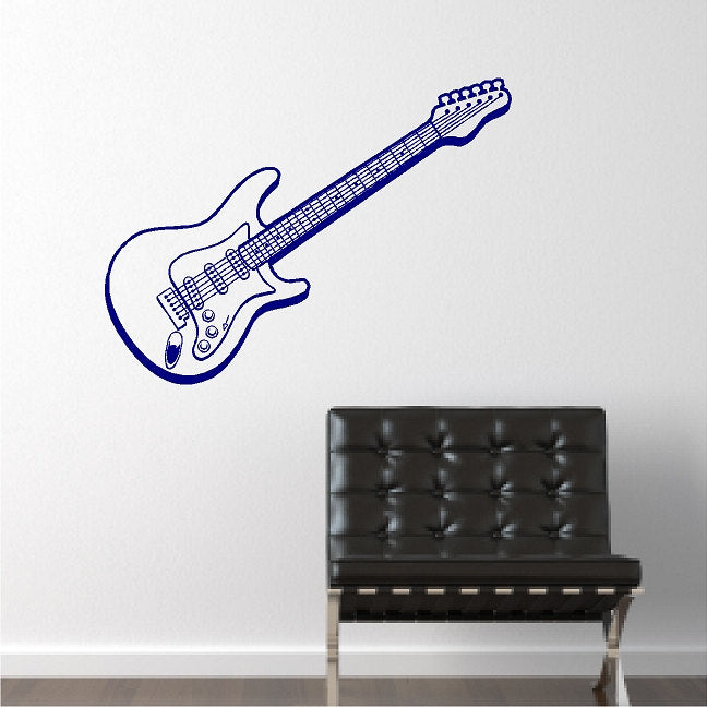 Music Art Design Wall Sticker Electric Guitar Beautiful Wall Decals Mural  Home Bedroom Art Special Decorative Wall Stickers M 48