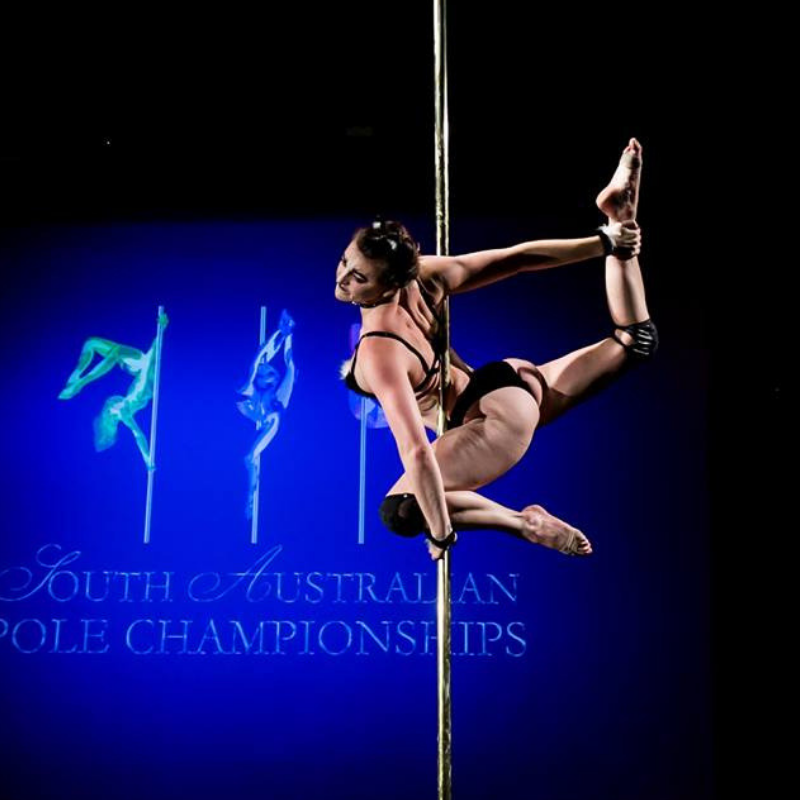 Pole dance performance photo