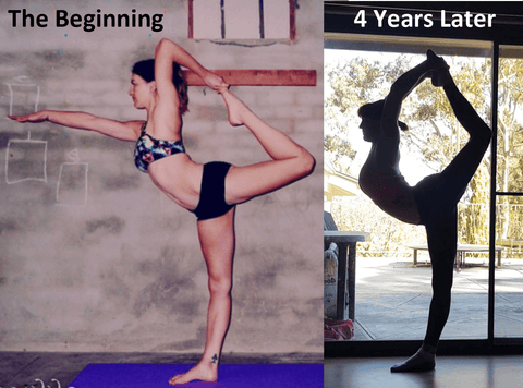 Flexibility progress picture of pole dancing