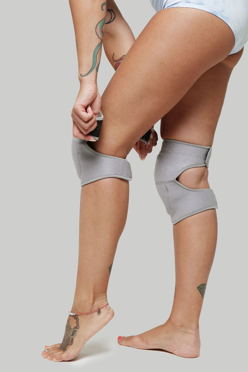 Creatures of XIX pole dance knee pads grey wolf