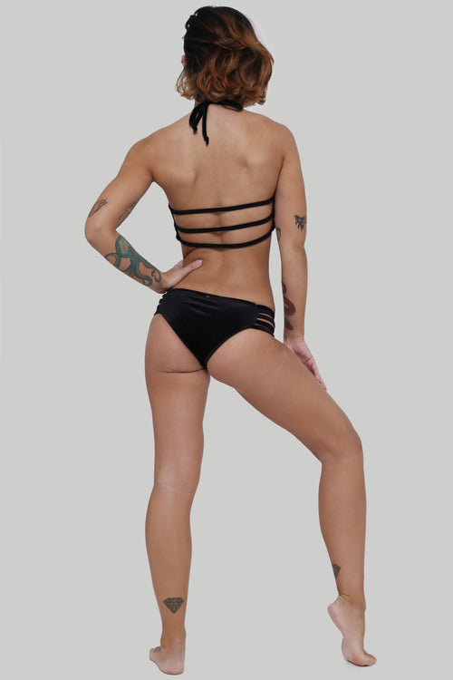 Creatures of XIX, Enyo pole dance outfit, black, back view