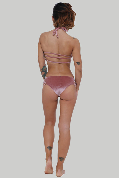 Creatures of XIX, Enyo pole dance outfit, dusty pink, back view