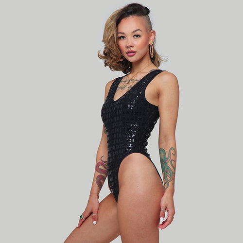 Creatures of XIX Gecko grip pole dance bodysuit side view