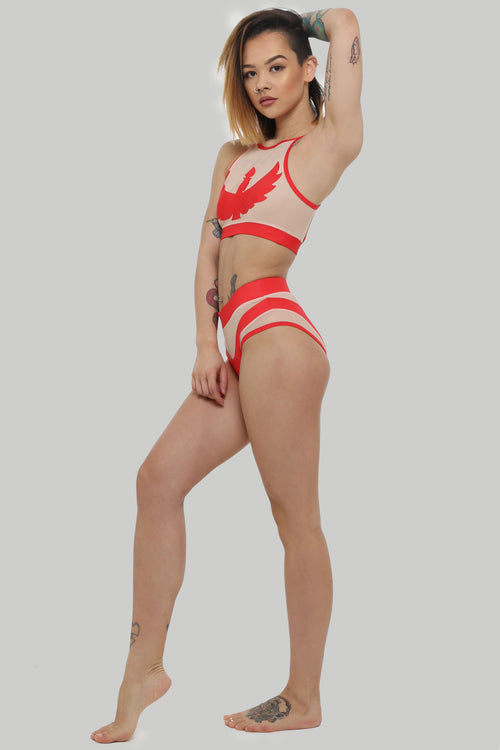 Creatures of XIX, Isis pole dance set, red, side view on model