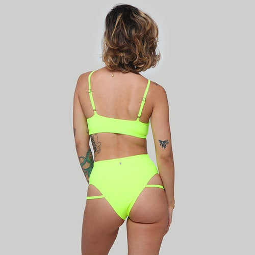 Creatures of XIX Raree pole dance top & LA pole dance bottom slime back view