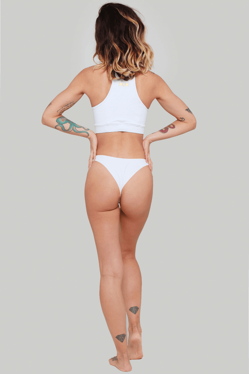 Creatures of XIX Selene pole dance set white back view