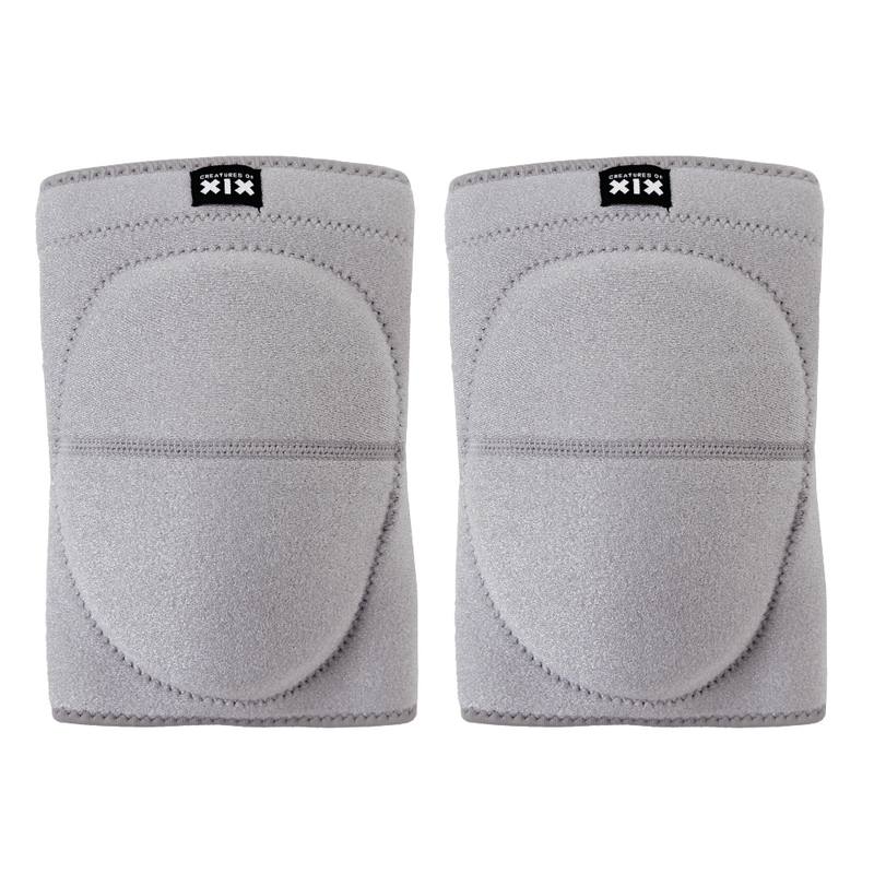 Creatures of XIX pole dance knee pads grey front view