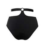 Hamade Black High Waist pole aerial dance bottom, back view