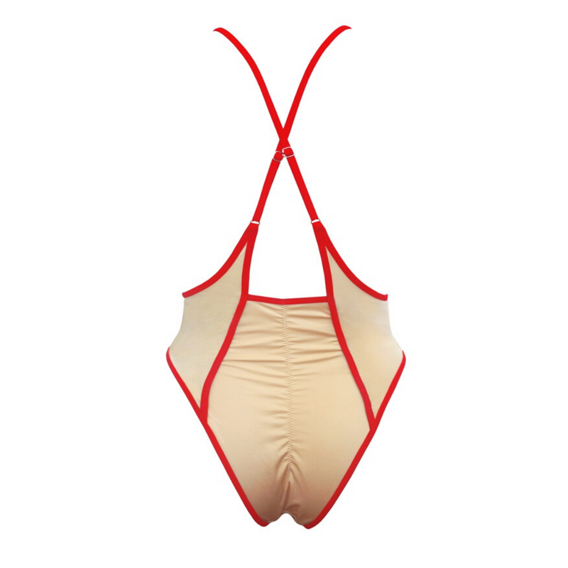 Hamade Nude High Waist Slings pole aerial dance bottom, back view