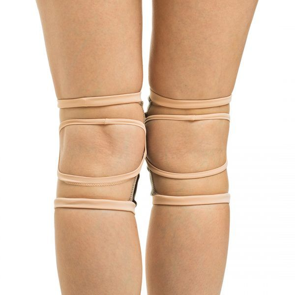 Poledancerka pole dance clothing knee pads Powder back view