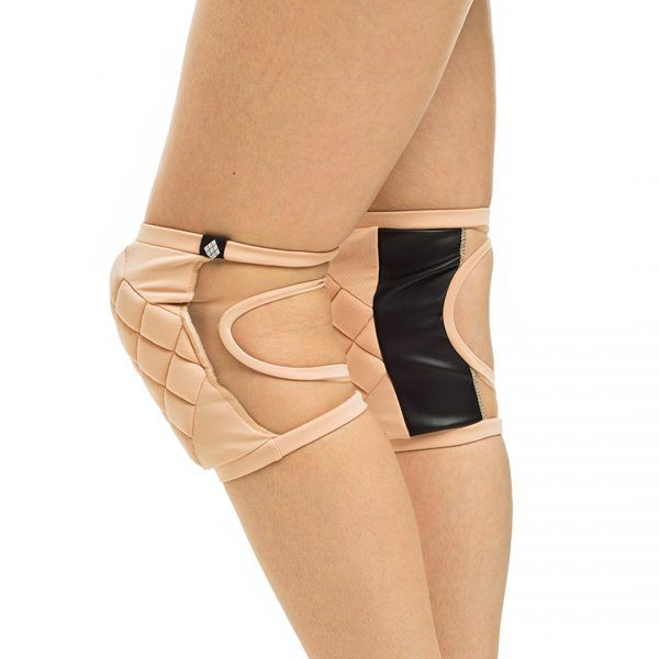 Poledancerka pole dance clothing knee pads Powder side view