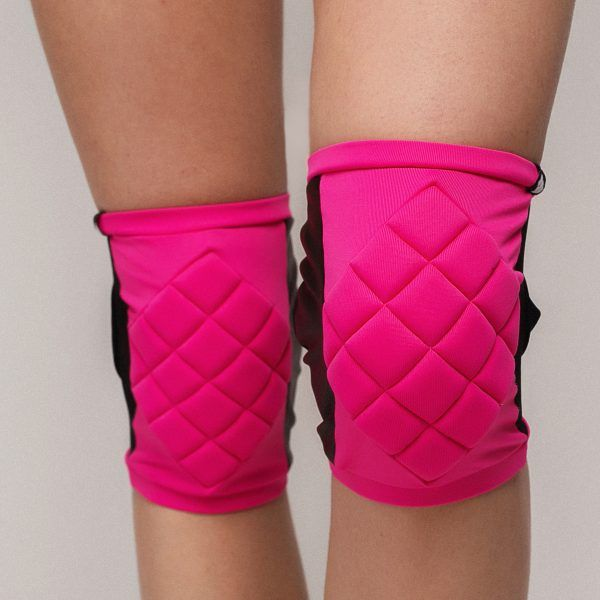 Poledancerka pole dance clothing knee pads pink front view
