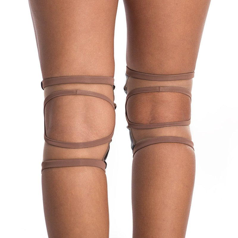 Poledancerka pole dance knee pads Nude No2 back view