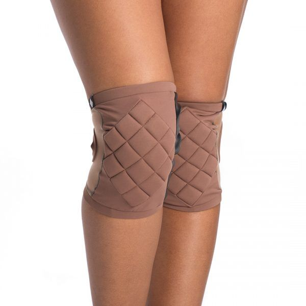 Poledancerka pole dance knee pads Nude No2 front view