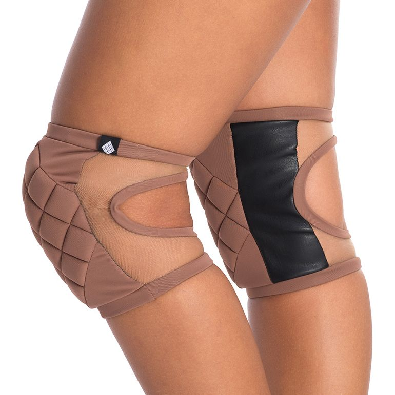 Poledancerka pole dance knee pads Nude No2 side view
