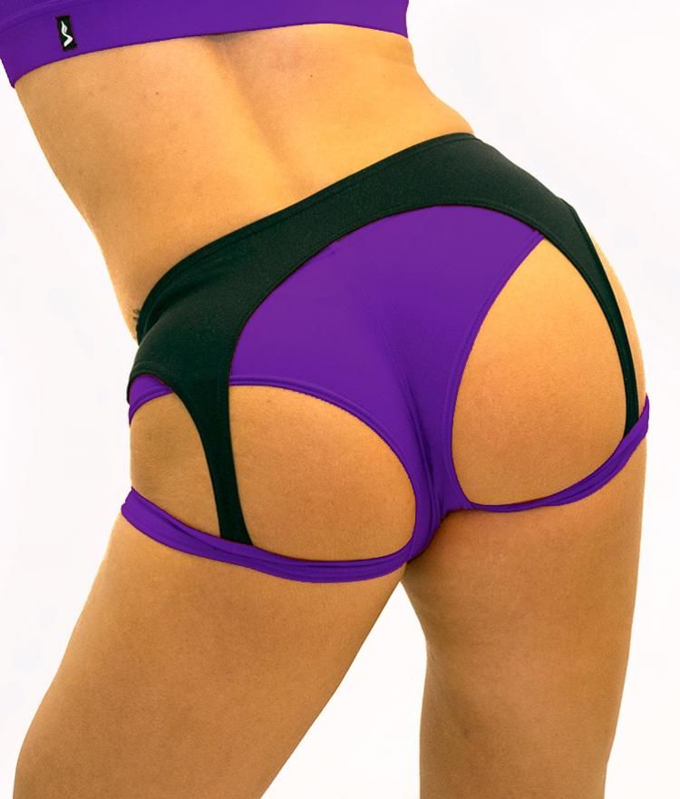 Sway Ruby pole dance short back view