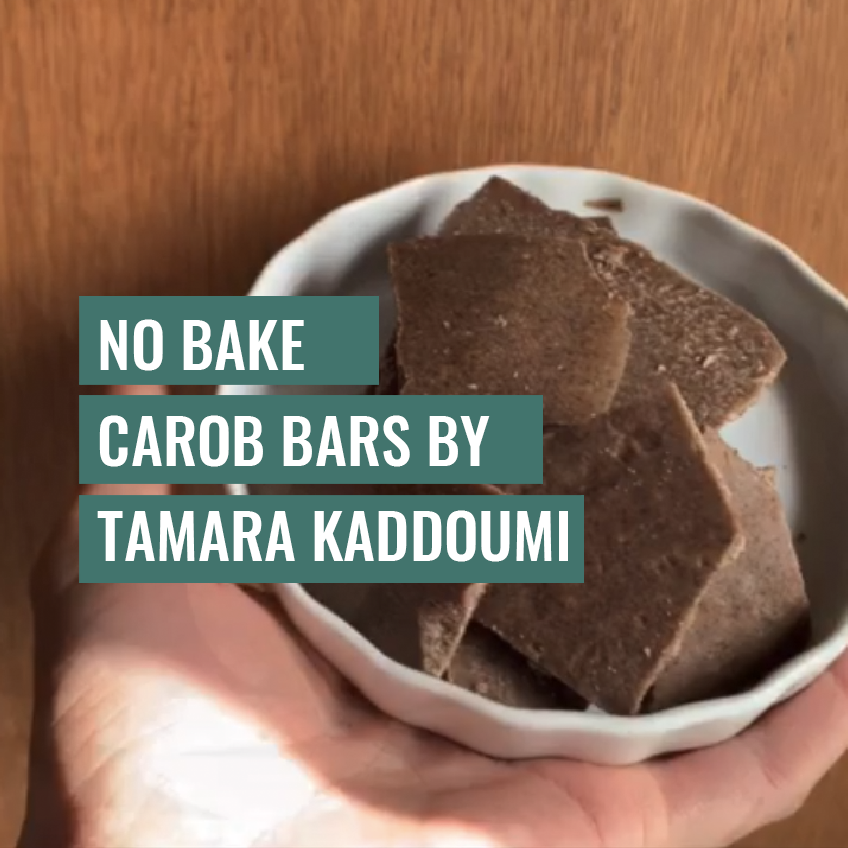 No Bake Carob Bars By Tamara Qaddoumi