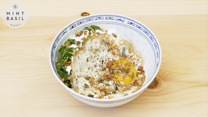 Savory Oatmeal with Garlicky Greens