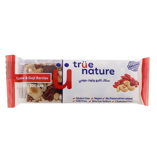 True Nature Organic Cashew and Goji Bar