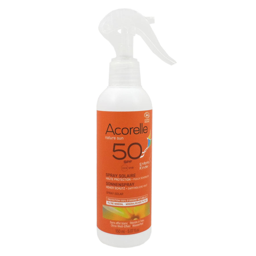 Acorelle Organic Certified Kids Sunscreen Spray SPF50