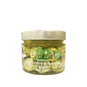 Go Baladi Organic Goat Labneh Balls in Olive Oil with Mint