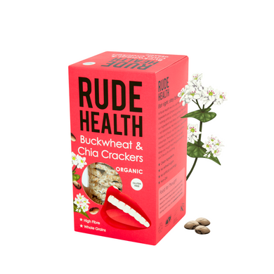 Rude Health Organic Buckwheat and Chia Crackers