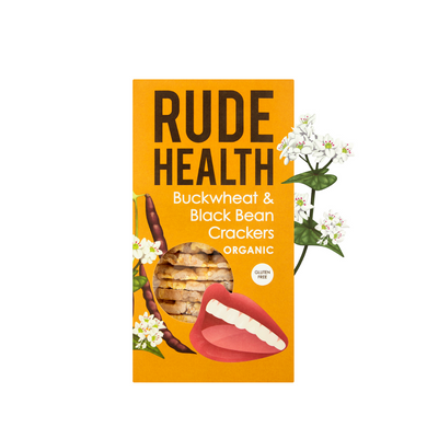 Rude Health Buckwheat and Black Bean Crackers