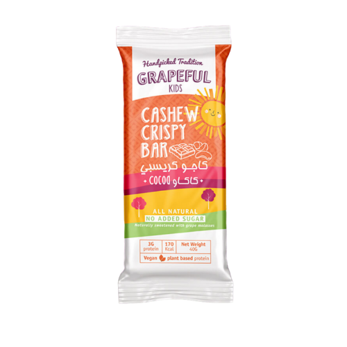 Grapeful Kids Cashew Crispy Bar