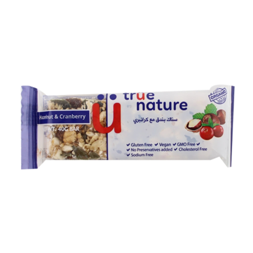 True Nature Hazelnut and Cranberry Bar
