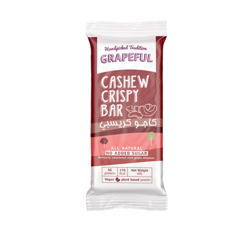 Grapeful Cashew Cocoa Crispy Bar