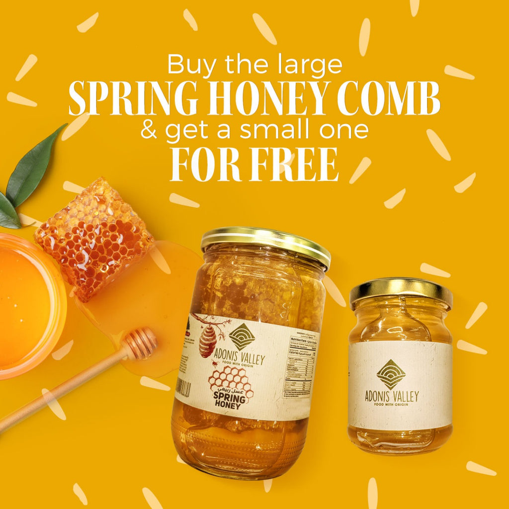 Adonis Valley Spring Honey with Honey Comb